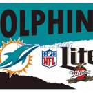 3x5ft Miami Dolphins Custom Flags Polyester Digital Print Football Support Flag