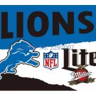 3x5ft Detroit Lions Custom Flags Polyester Digital Print Football Support Flag