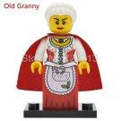 (Old Granny) Christmas Boy Figure Old Granny Joker Batman Clone Trooper Building Blocks Toy