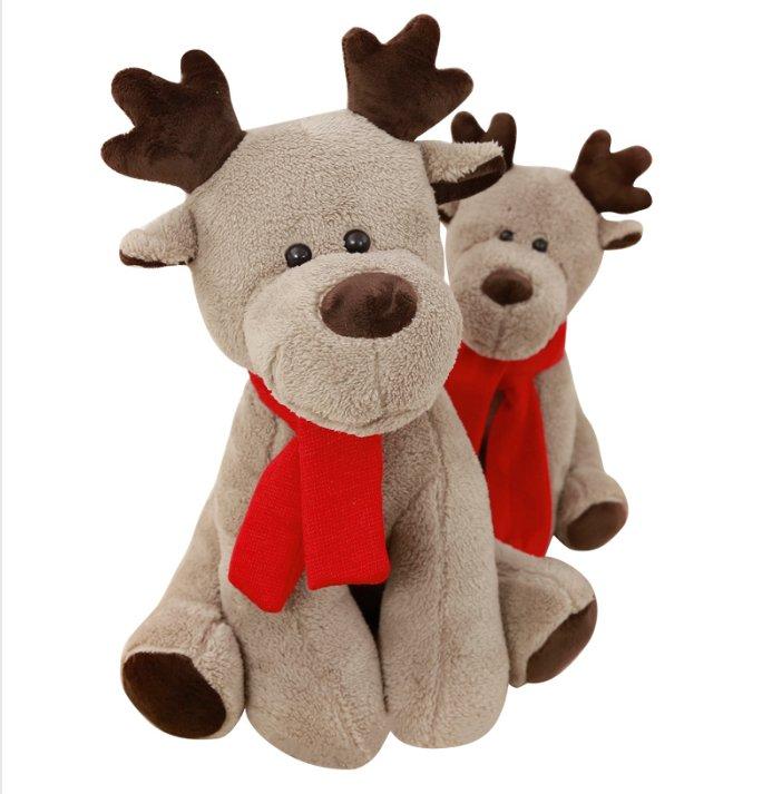 28cm Simulation Christmas Elk Plush Toy Stuffed Soft Deer ...