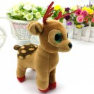 15CM tinsel sika deer BIG EYES Plush Toys Stuffed animals soft toys buddly toys
