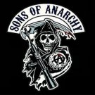 192x288cm Sons Of Anarchy Black Flying Large Outdoor Flag Banner metal holes Flag Custom Flag