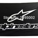 20x30cm NEW ALPINESTARS Flag Racing GP Motorcycle Banner Flag Polyester grommets Custom metal holes