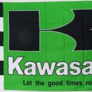 20x30cm Kawasaki Green Checkered Indoor Outdoor Banner Flag metal holes Flag