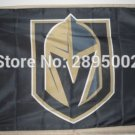 90x150cm Los Vegas Golden Knights black Flag Polyester grommets Custom metal holes