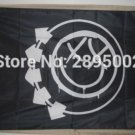 Blink 182 Feeling This black Smiley face flag Polyester grommets 3' x 5' Banner metal holes Flag
