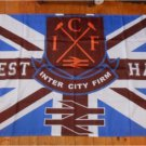 90x150cm WEST HAM UNITED ICF INTER CITY FIRM 3 X 5 UNION JACK Large Outdoor Flag Banner