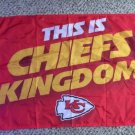 KC Kansas City THIS IS CHIEFS KINGDOM Flag 2015 McDonalds Large Indoor Outdoor Flag 3' x 5'