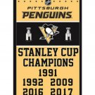 Pittsburgh Penguins 2017 Stanley Cup Champion Flag 3X5FT Banner NHL flag (STD)