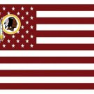 Washington Redskins US flag with star and stripe 3x5 FT banner (STB)