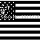 Oakland Raiders US flag with star and stripe 3x5 FT Banner 100D Polyester NFL flag