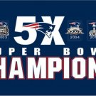 Digital Printing New England Patriots 5X Super Bowl Champions flag (STB)