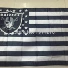 3x5 FT Oakland Raiders US flag with star and stripe Banner 100D Polyester 50 pcs/lot