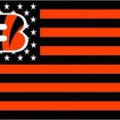 Cincinnati Bengals US flag with star and stripe 3x5 FT Banner (STA)