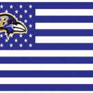 Baltimore Ravens US flag with star and stripe 3x5 FT banner (STA)