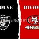 3x5 ft Oakland Raiders VS San Francisco 49ers house divided flag
