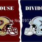 3x5 ft San Francisco 49ers PHelmet VS Dallas Cowboys PHelmet house divided flag