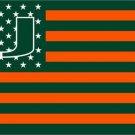 3ftx5ft Miami Hurricanes flag 100D Polyester Flag metal Grommets NCAA flag (STA)