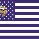 Minnesota Viking US flag with star and stripe 3x5 FT banner (STA)