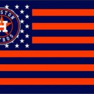 Houston Astros Stars and Stripes 3 X 5 FT Nation Flag Banner with Grommets (STA)