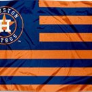 Houston Astros Stars and Stripes 3 X 5 FT Nation Flag Banner with Grommets (STB)