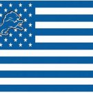 Detroit Lions US flag with star and stripe 3x5 FT flag