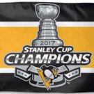 Pittsburgh Penguins 2017 Stanley Cup Champions Flag 3x5ft (STC)