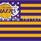 Los Angeles Lakers USA star stripe NBA Premium Team basketball Flag 3X5FT