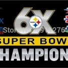3X5FT Pittsburgh Steelers NFL 6 Time Super Bowl Champions Flag Banner