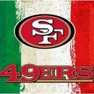 Green white red Stripes San Francisco 49ers flag 3ftx5ft Banner 100D Polyester Flag metal Grommets