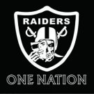 Oakland Raiders one nation flag 90x150cm polyester banner (STG)