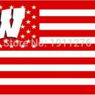 Wisconsin Badgers flag with us stars stripes 3ftx5ft Banner 100D Polyester Flag (STA)