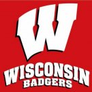 Wisconsin Badgers flag with us stars stripes 3ftx5ft Banner 100D Polyester Flag (STF)
