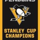 NHL 2017 5X Pittsburgh Penguin Stanley Cup champion Flag Digital Printing banner (STA)