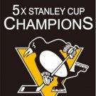 NHL 2017 5X Pittsburgh Penguin Stanley Cup champion Flag Digital Printing banner (STG)