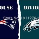 3x5 ft New England Patriots VS Philadelphia Eagles house divided flag