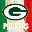 3x5ft Green white red Stripes Green Bay Packers flag new style oil painting style flag