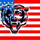 Chicago Bears flag 3ftx5ft Banner 100D Polyester Flag metal Grommets (STC)