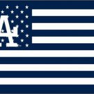 3X5FT MLB Los Angeles Dodgers flag stripe banner metal Grommets custom flag 100D Digital Print
