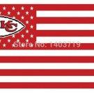 Kansas City Chiefs USA Stars and Stripes NFL flag football 3ft x 5ft Polyester Flying