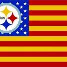 New Design 3x5ft Pittsburgh Steelers Nation Flag 100D Polyester Flag (STG)