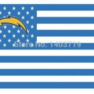 3x5ft San Diego Chargers USA Football Flag NFL Stars and Stripes flag polyester banner 100D