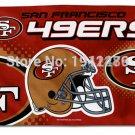 San Francisco 49ers flag helmet edition digital print polyester banner 3x5ft sports decoration