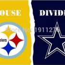 3X5 FT Pittsburgh Steelers VS Dallas Cowboys flag 100D polyester digital printed banner