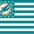 Miami Dolphins USA With Stars and Stripes Flag 3X5FT banner (STA)