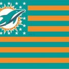 Miami Dolphins USA With Stars and Stripes Flag 3X5FT banner (STB)