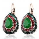 New Fashion Women Water Drop Crystal Rhinestones Vintage Drop Earrings #3