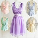 NEW Women Dress Girls Juniors Teen Chiffon Bow Tank Size XS S M Age 12-18 Formal