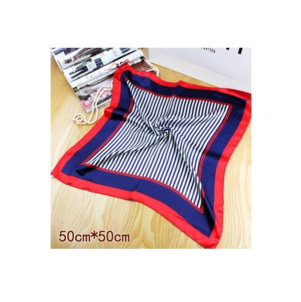 New Red Blue Neckerchief Bandanna Silk Scarf Head Band Fashion Squared 20*20in