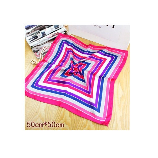 New Pink Blue Neckerchief Bandanas Silk Scarf Head Wrist Band Squared 20x20in